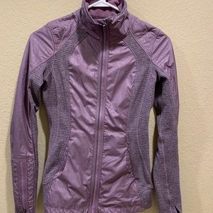 Lululemon purple printed zip up jacket